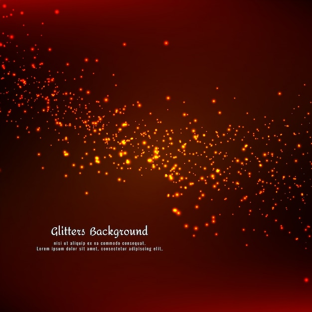 Abstract glowing glitters background Free Vector
