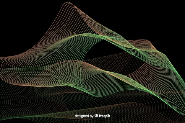 Abstract glowing particles shapes background Free Vector