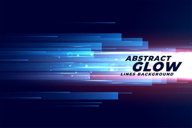Abstract glowing speed motion lines in forward direction Free Vector