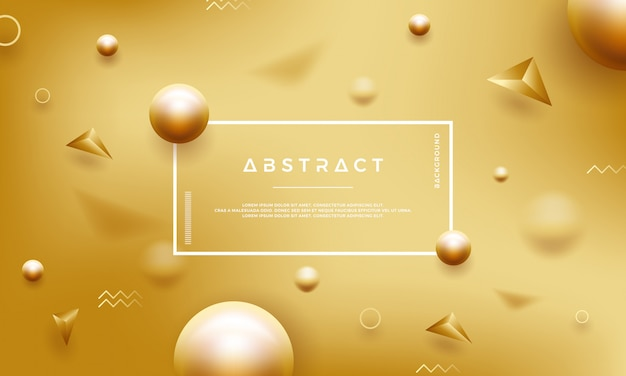 Abstract gold background with beautiful golden pearls. Premium Vector