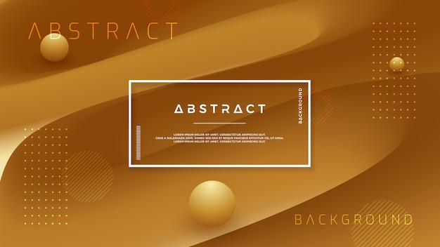 Abstract gold brown vector background. Premium Vector