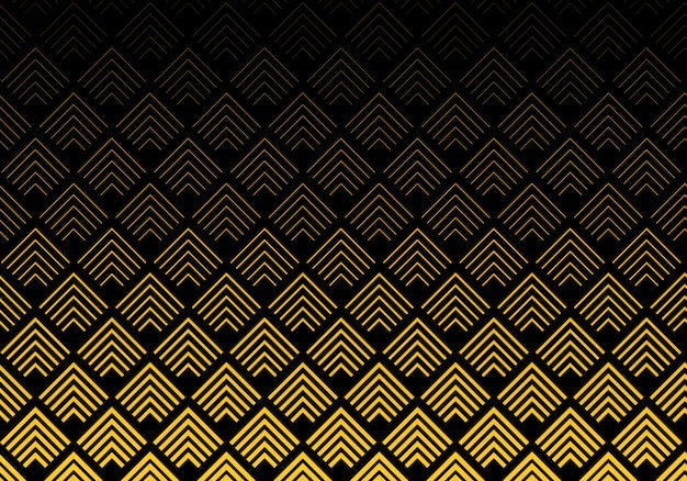 Abstract gold chevron lines pattern background Premium Vector