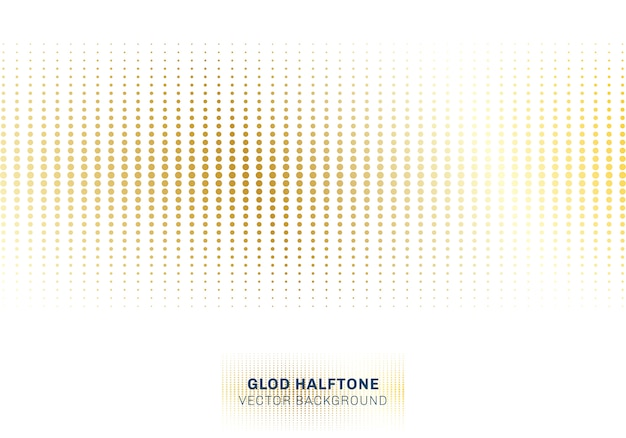 Abstract gold dots pattern halftone on white background Premium Vector
