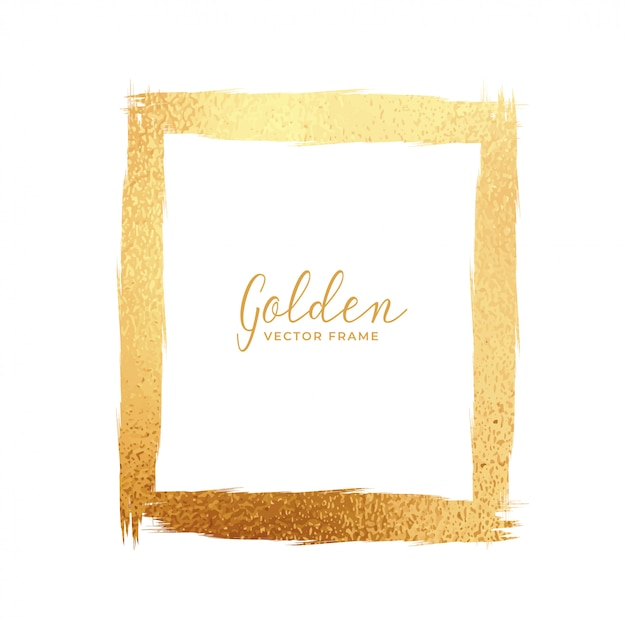 Abstract gold foil texture frame Vector | Free Download
