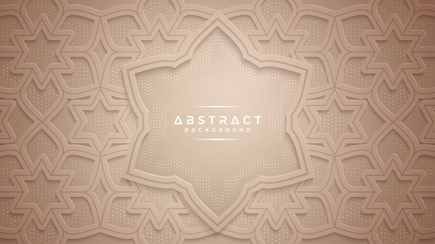 Abstract gold papercut textured background. Premium Vector