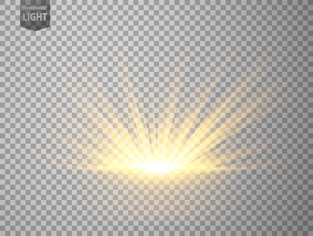 Abstract gold rays rising Premium Vector