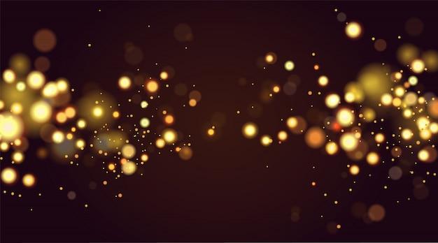Abstract golden bokeh background Premium Vector