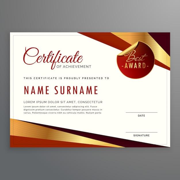 Abstract Golden Certificate Vector Free Download