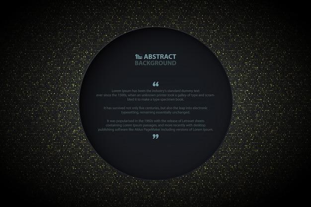 Abstract golden circle background Premium Vector