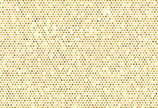 Abstract golden dotted pattern background Free Vector