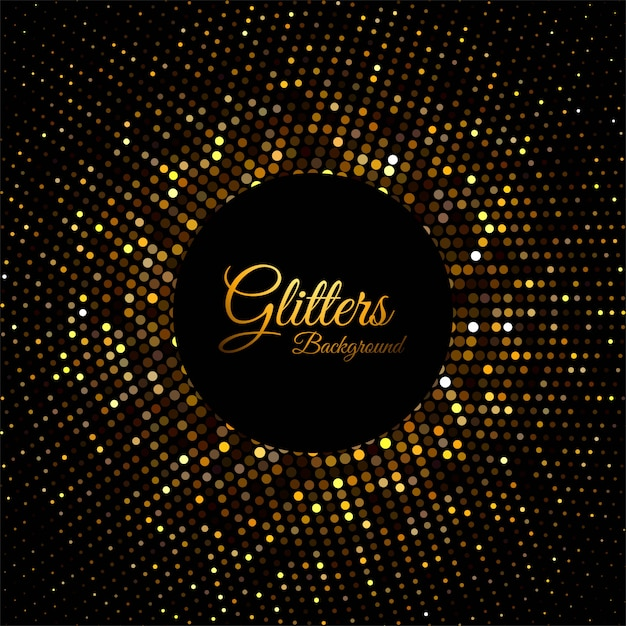 Abstract golden glitter particles Free Vector