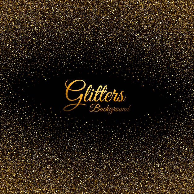 Abstract golden glittering dust texture background Free Vector