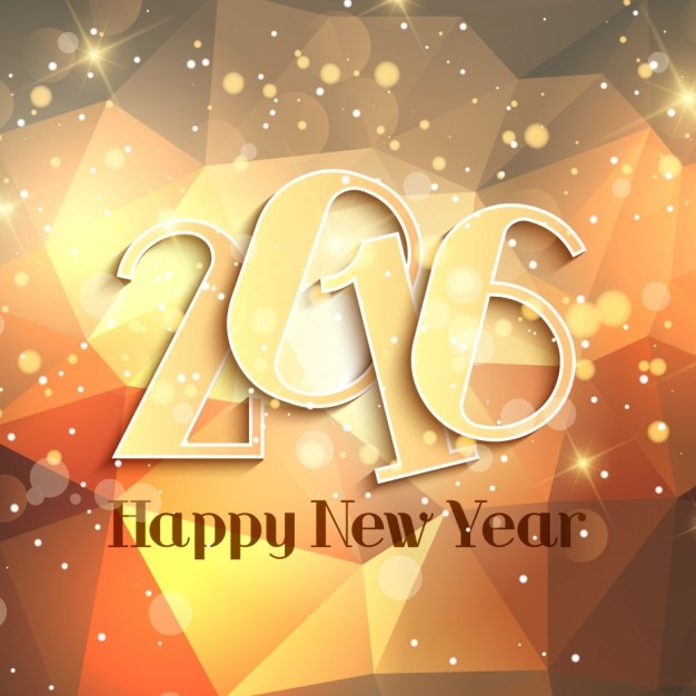 Abstract golden happy new year\ background