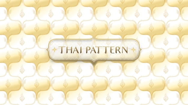 Abstract golden traditional thai pattern background Premium Vector