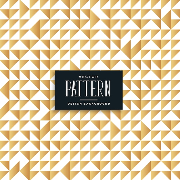 Abstract golden triangles seamless pattern Free Vector