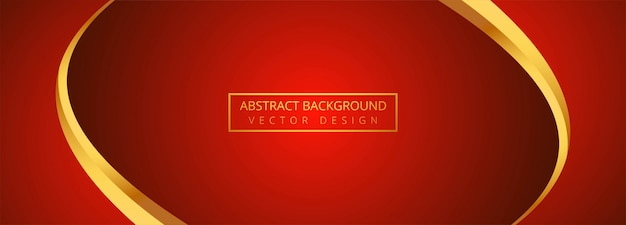 free vector abstract golden wave with red banner background abstract golden wave with red banner