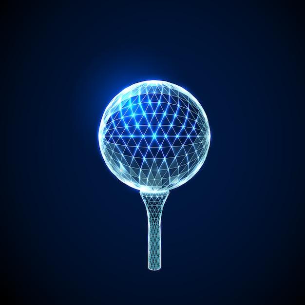 Abstract golf ball Premium Vector