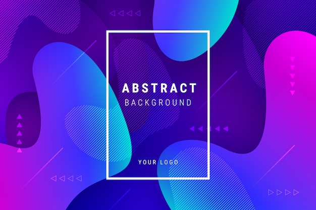 Abstract gradient background with fluid shapes Free Vector