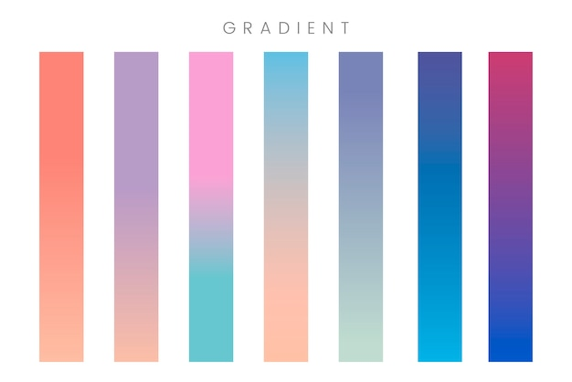 Abstract gradient banner set Free Vector