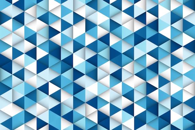 Абстрактный градиент синий фон технологии треугольник шаблон дизайна. Premium векторы