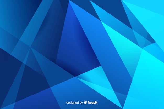 Abstract gradient blue shades shapes Free Vector