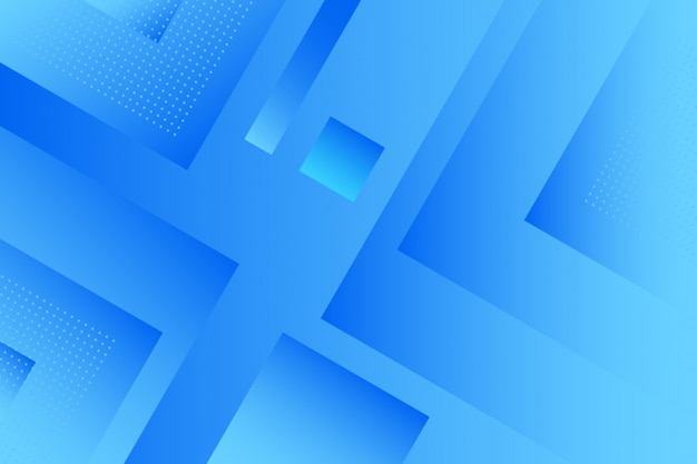 Abstract gradient blue squares background Premium Vector