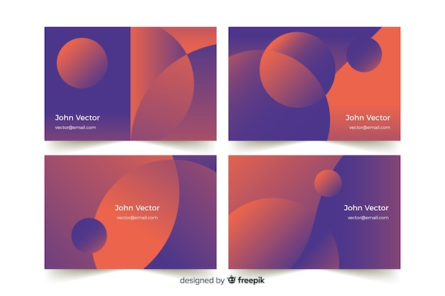 Abstract gradient business card template Free Vector