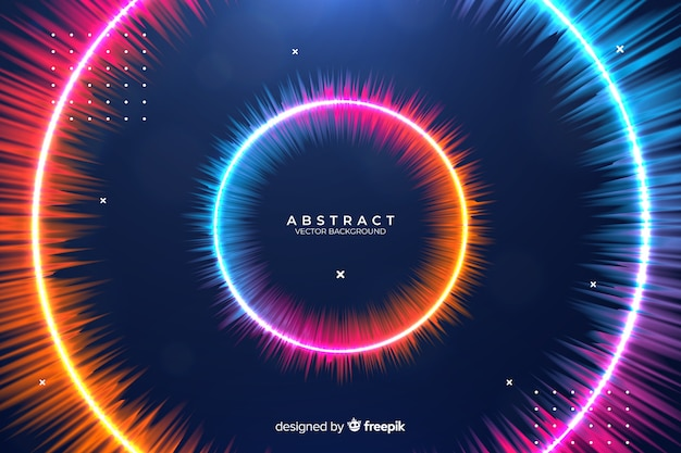 Abstract gradient circles background Free Vector