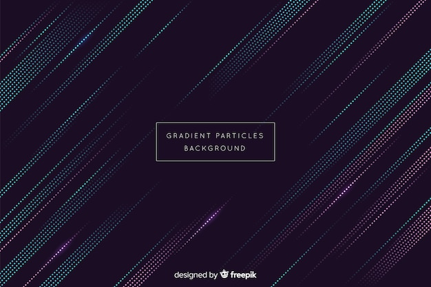 Abstract gradient circular particles background Free Vector
