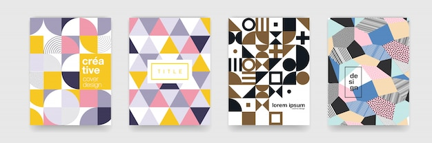 Abstract gradient flowing geometric pattern background texture for poster cover design Premium Vector