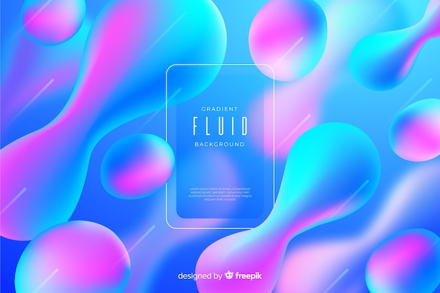 Abstract gradient fluid background Free Vector