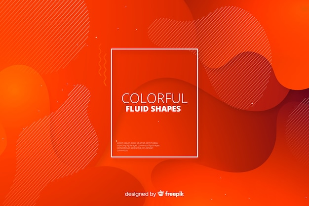 Free Vector Abstract Gradient Fluid Shapes Background