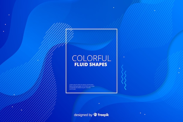 Abstract gradient fluid shapes background Free Vector