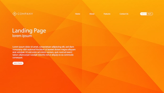 Abstract gradient geometric background template Premium Vector