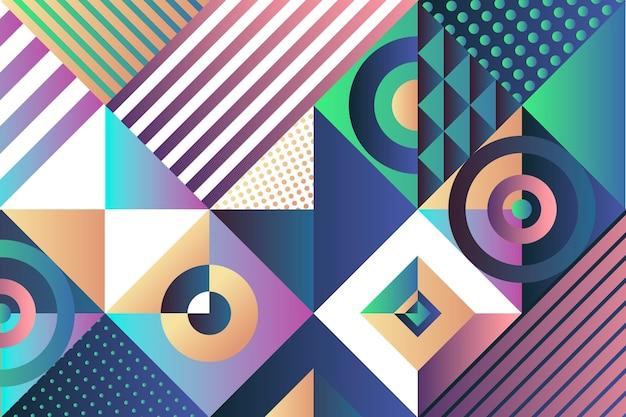 抽象的なグラデーションの幾何学的な背景 無料ベクター