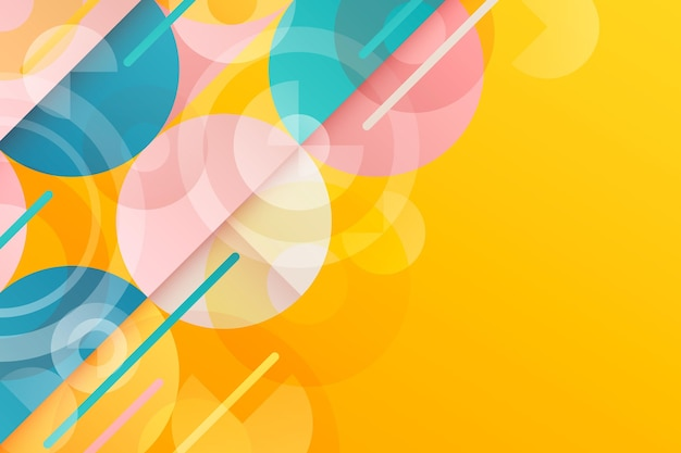 Abstract gradient geometric background Free Vector