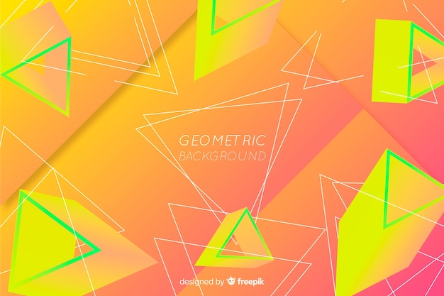 Abstract gradient geometric shape background Free Vector