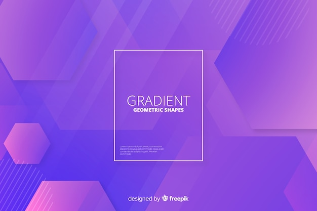Abstract gradient geometric shapes backround Free Vector