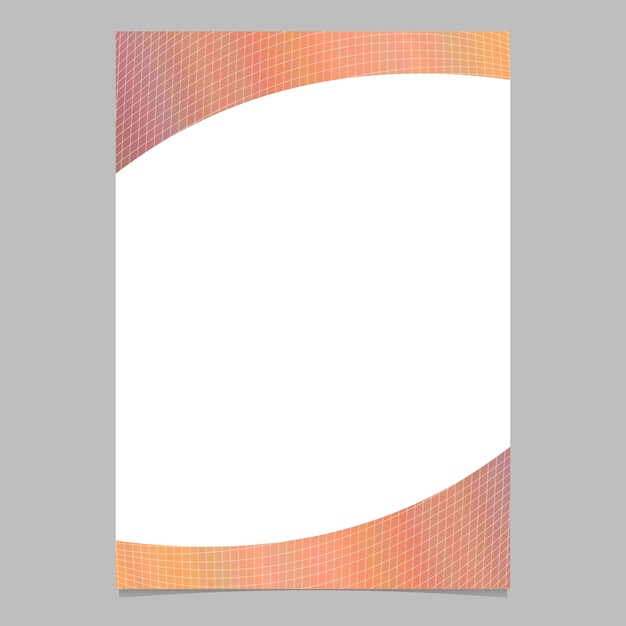 Abstract gradient grid brochure template background design Free Vector