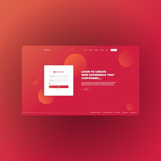 Целевая страница с абстрактным градиентом для многоцелевого бизнеса и цифрового маркетинга Premium векторы
