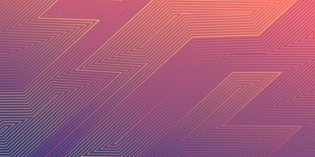 Abstract gradient line art background Premium Vector