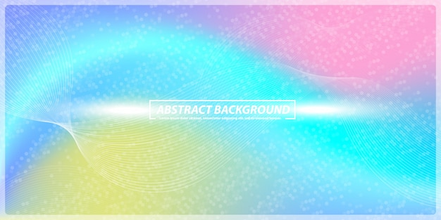 Abstract gradient and lines rainbow banner background Premium Vector