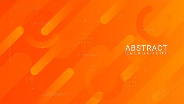 Абстрактный градиент оранжевый фон кривой Premium векторы