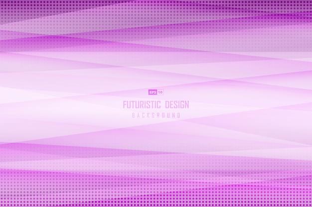 ハーフトーンのライン装飾背景の抽象的なグラデーション紫のデザイン。 Premiumベクター