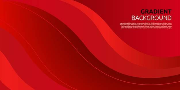 Premium Vector Abstract Gradient Red Curve Background