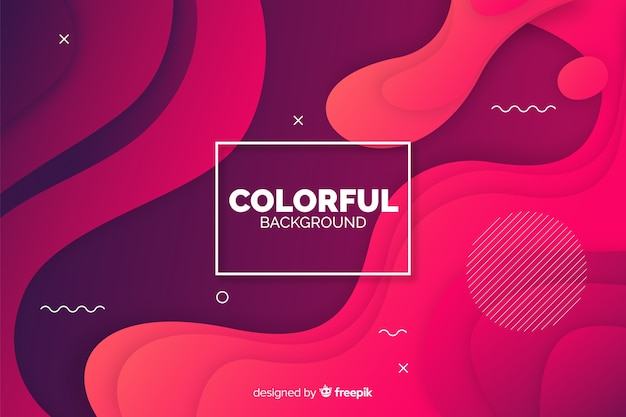 Abstract gradient shapes background Free Vector