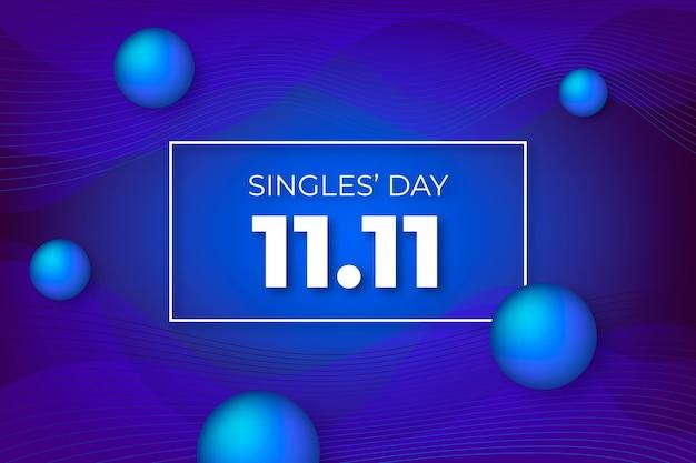 抽象的なグラデーションシングルの日 Premiumベクター
