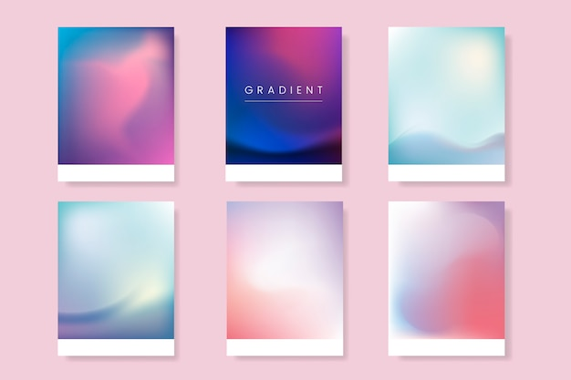 Abstract gradient template set Free Vector
