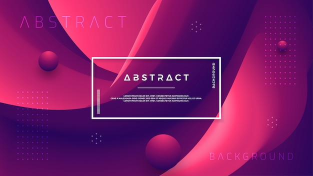Abstract gradient wave background with a combination of red and dark purple. Premium Vector