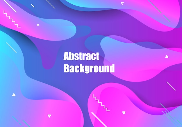 Abstract gradients blue background. Premium Vector